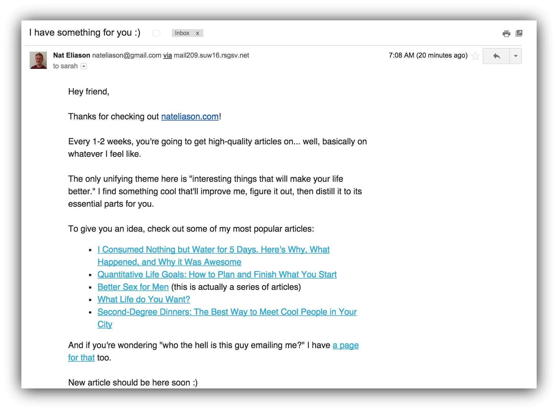 email types to send to email list