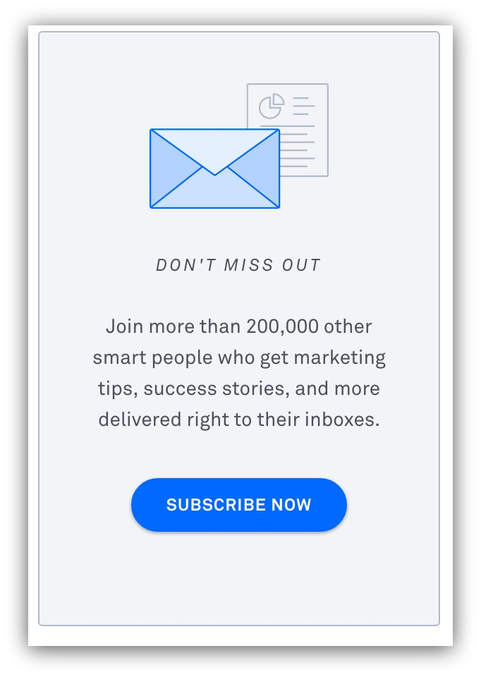 subscribe now popup box example