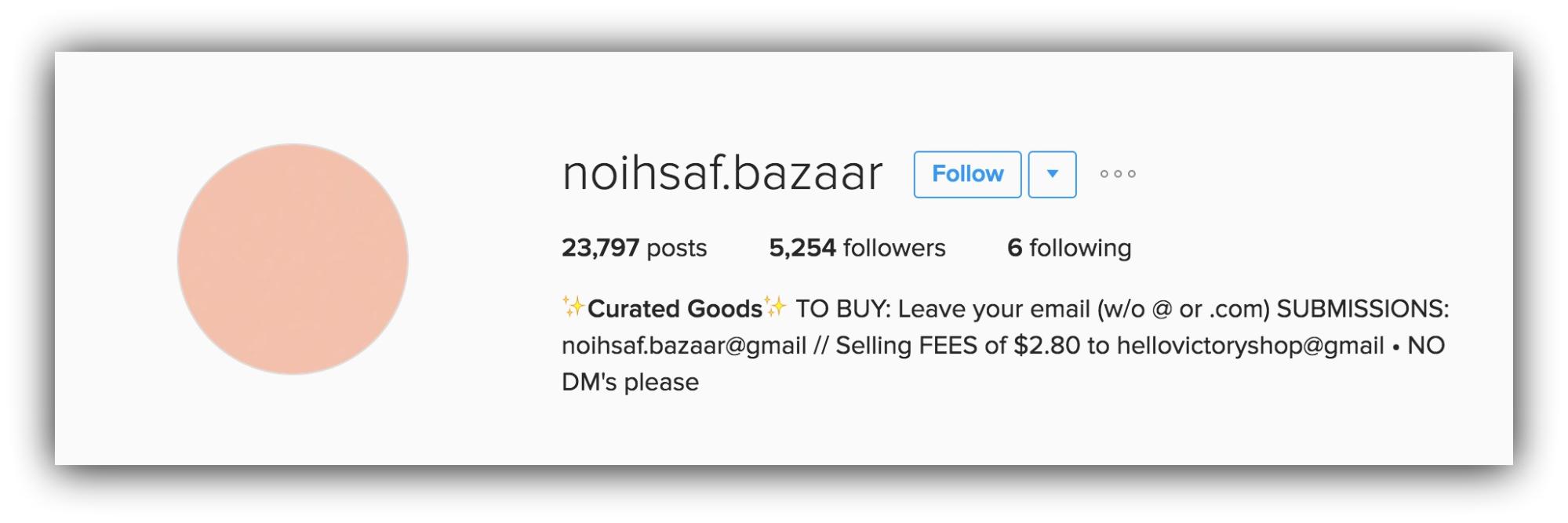 instagram for sales