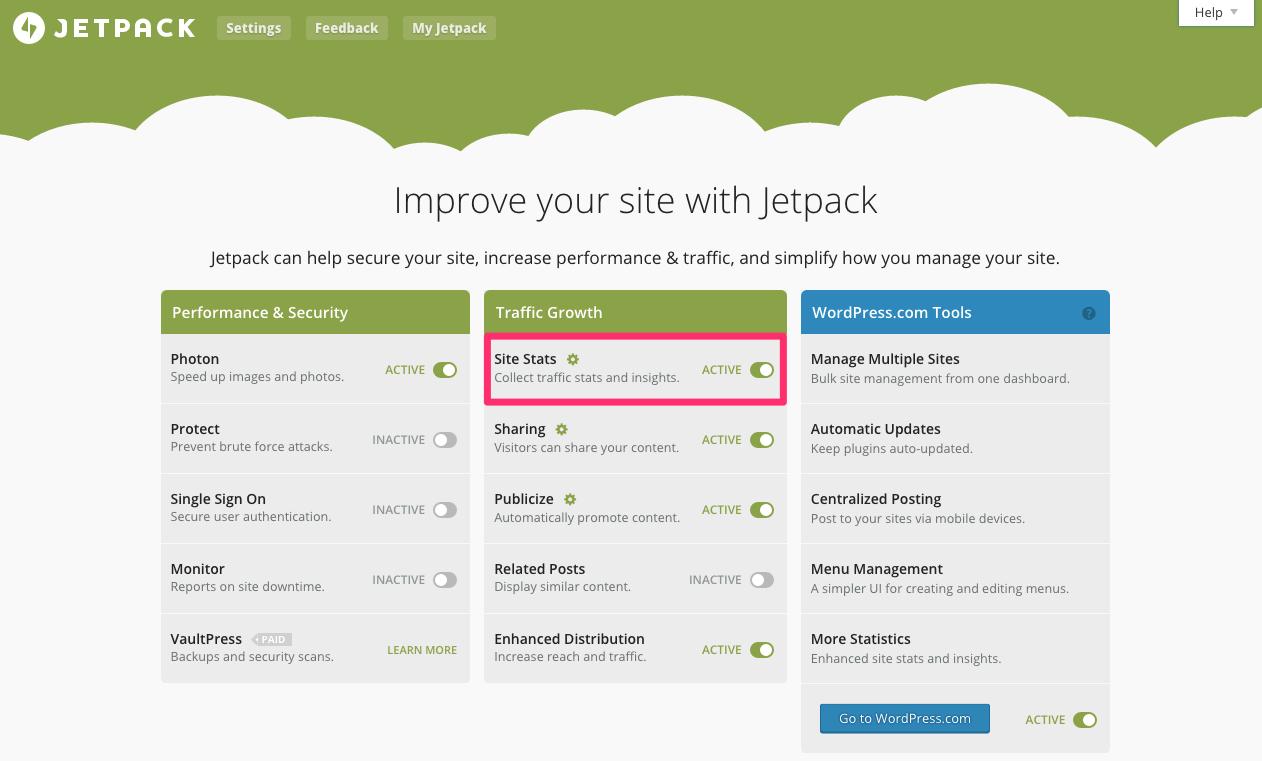jetpack wordpress