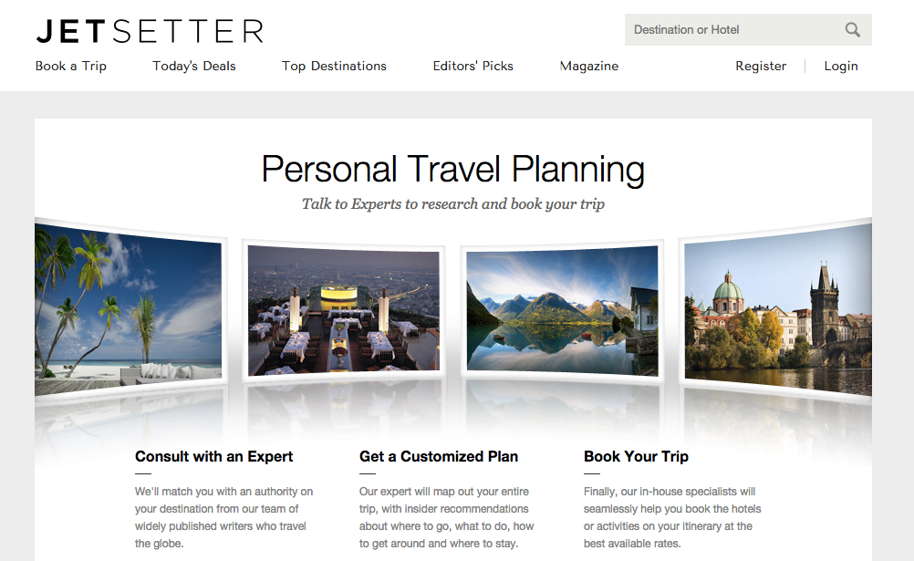 JetSetter value proposition example