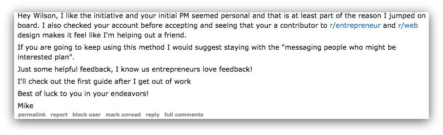reddit customer message