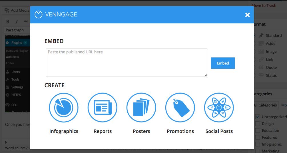 venngage wordpress plugin