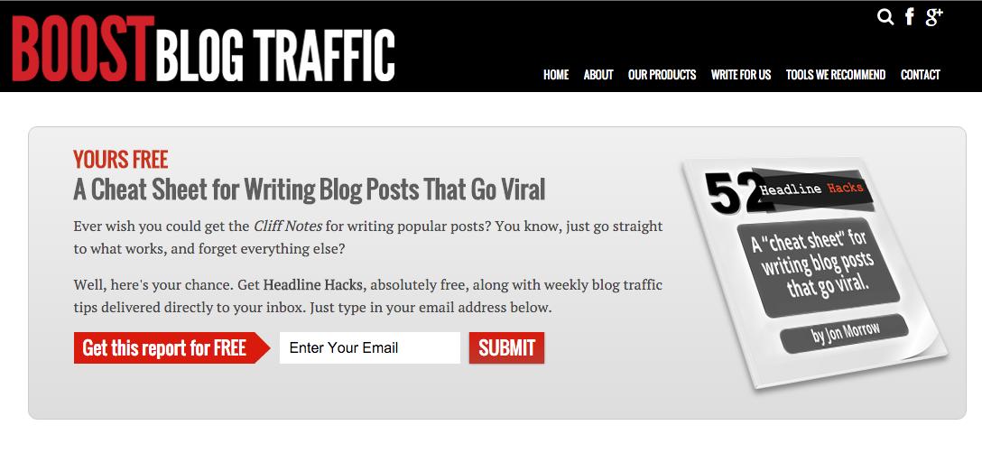 jon morrow boost blog traffic