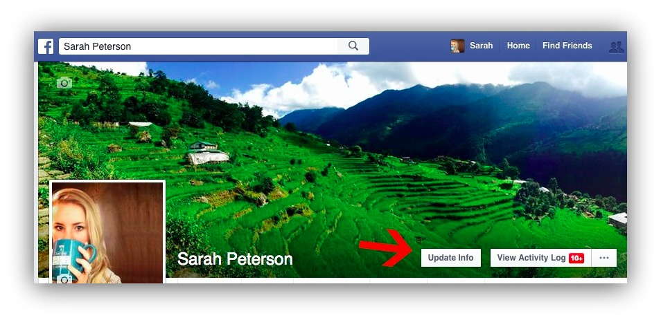 how to update info on facebook