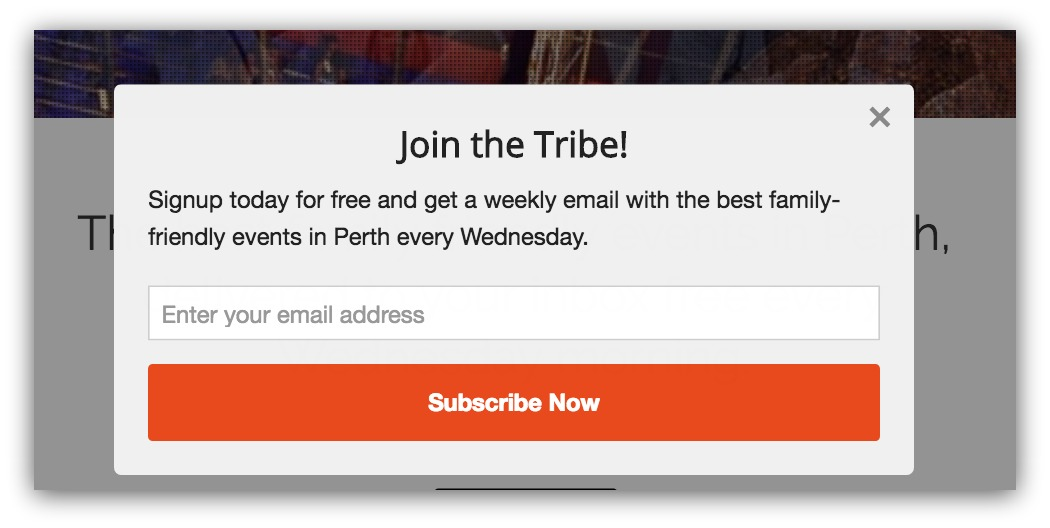 Clear offer pop-up example