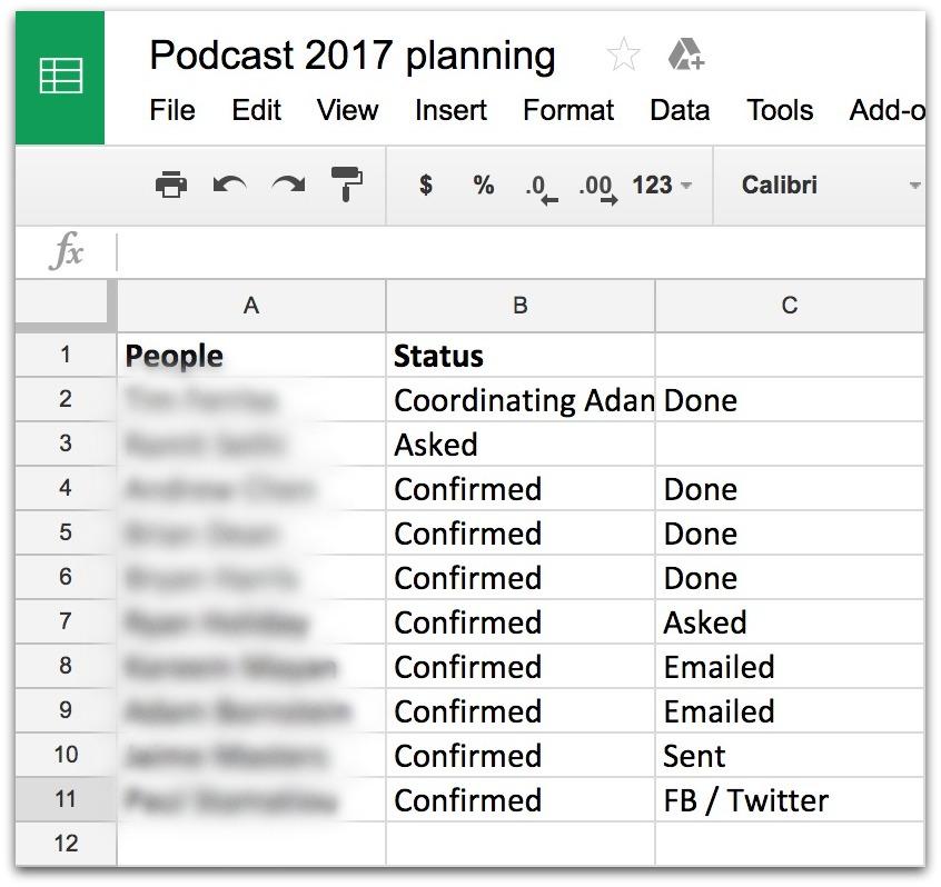 podcast 2017 planning