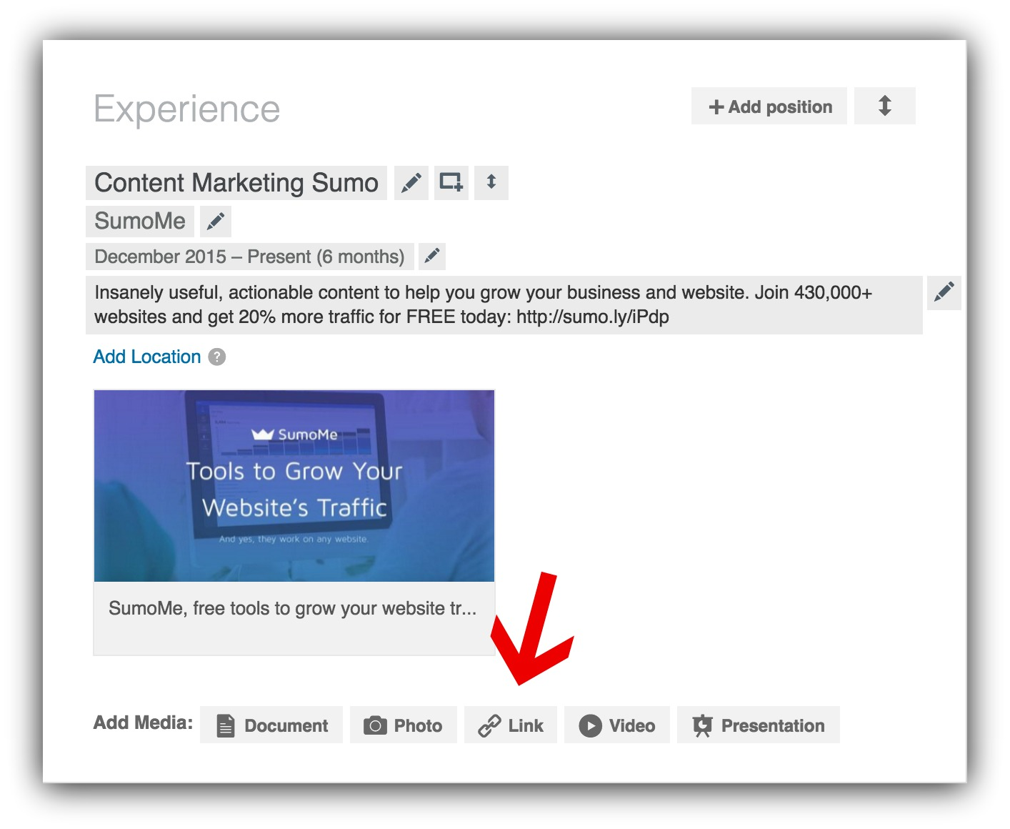 landing-page-link-linkedin-build-emails