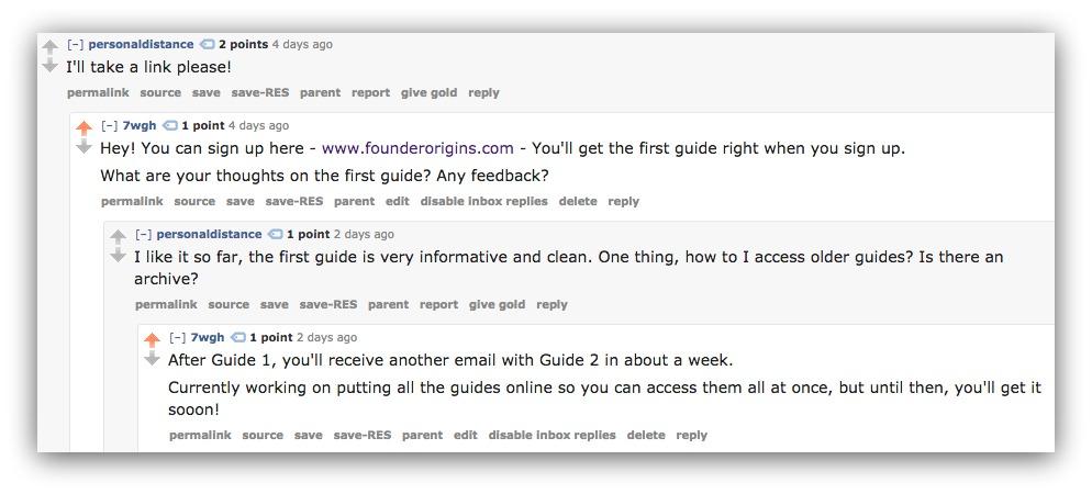 commenting on reddit posts