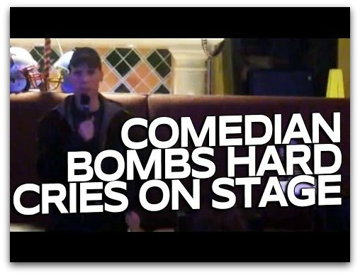 comedian bombs hard and cries on stage
