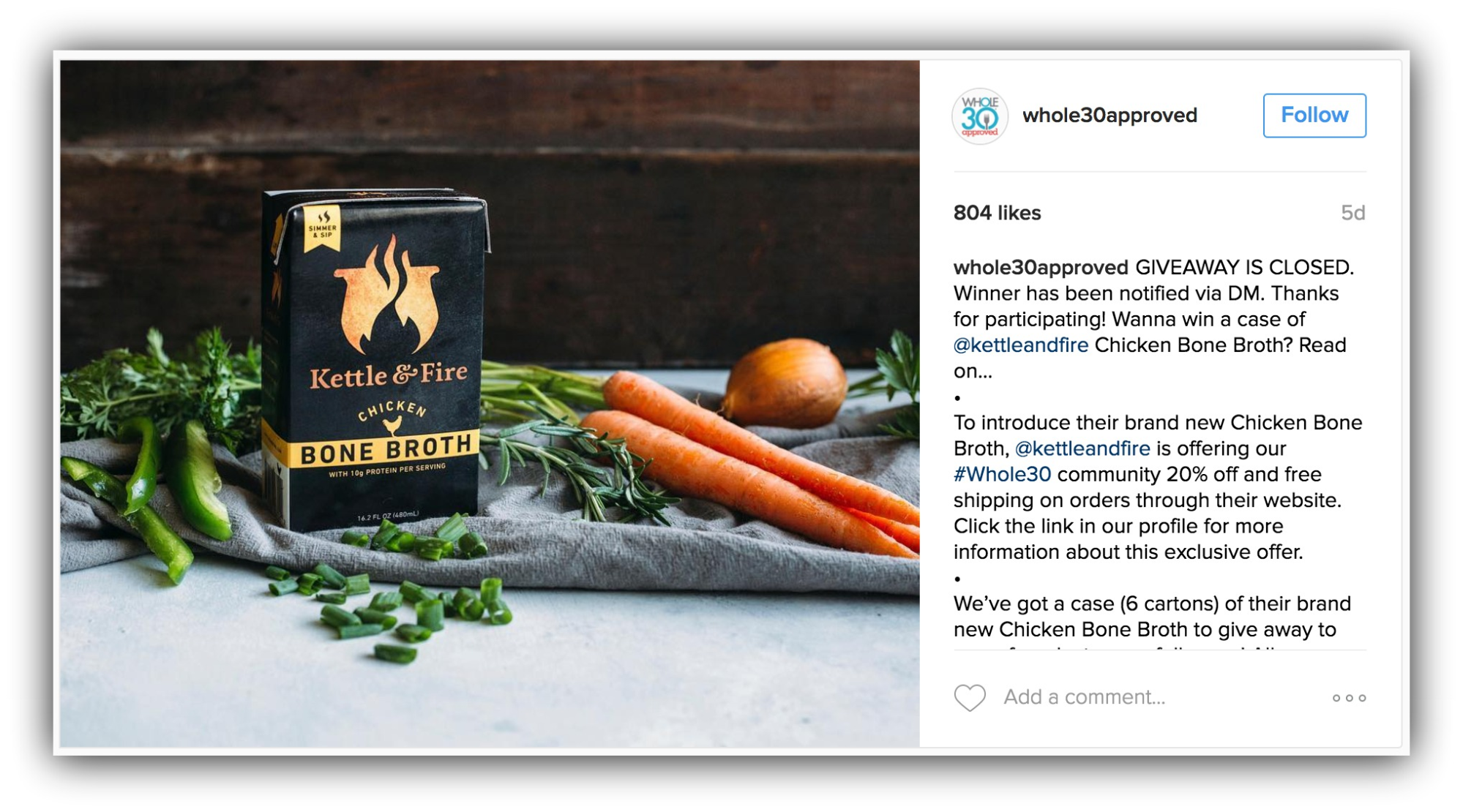 whole30approved instagram