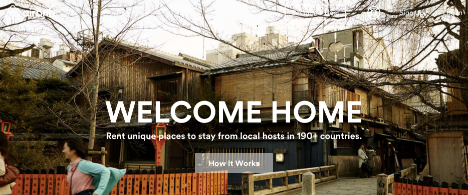 Airbnb value proposition example