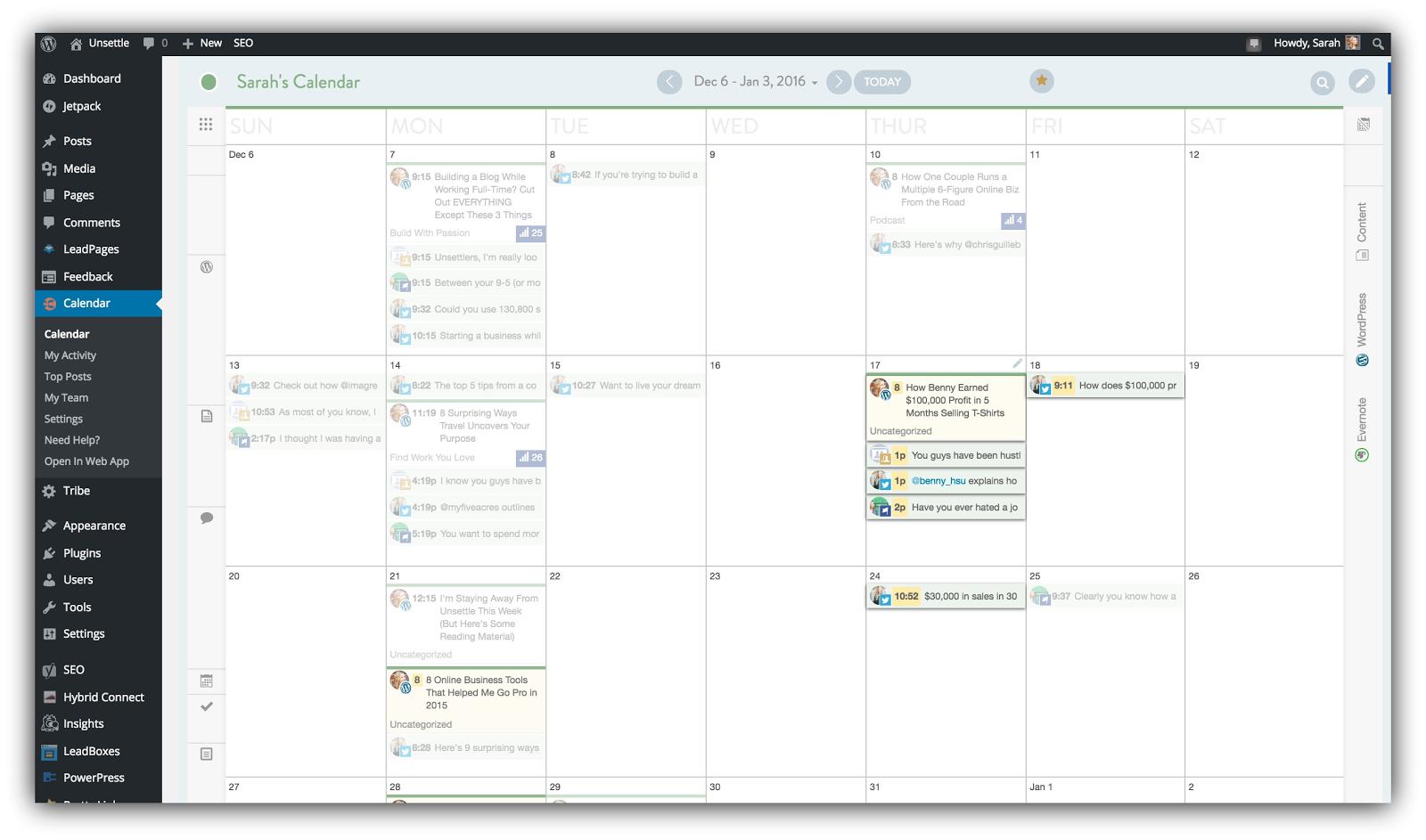 wordpress calendar plugin
