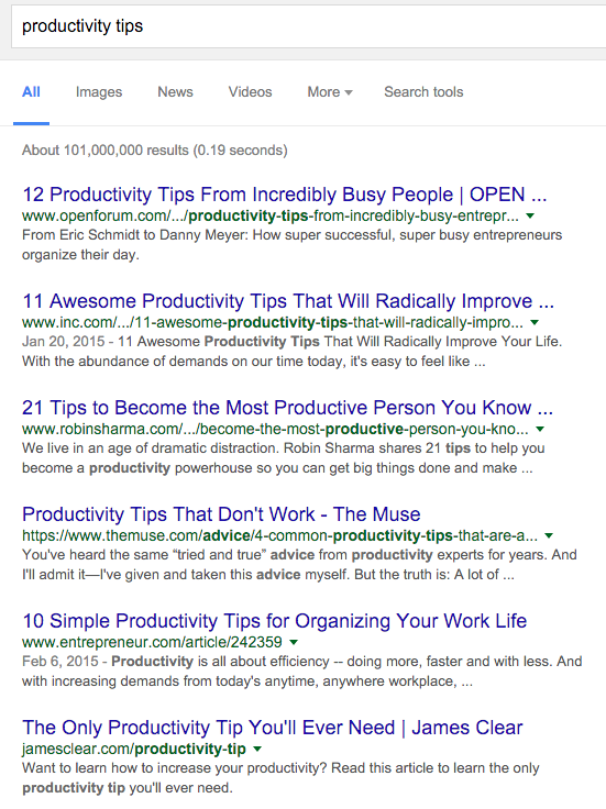 first page google ranking