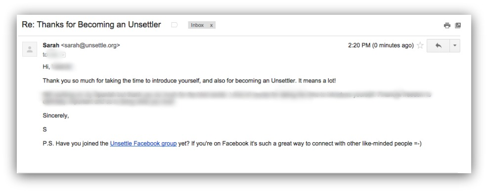 auto-responder email example