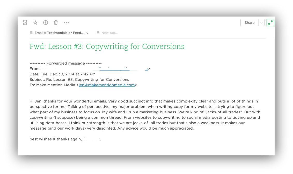 copywriting for conversions