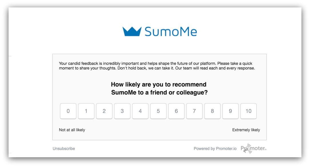 nps survey sumome