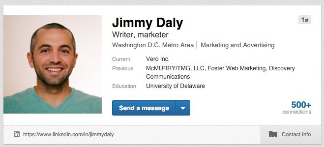 Traffic from LinkedIn