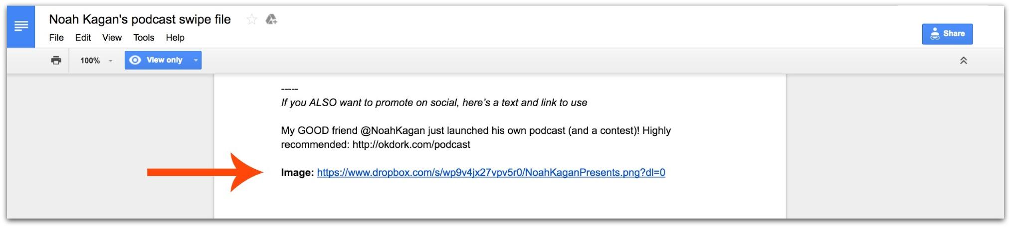 podcast swipe file